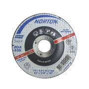 """Disco de desbaste p/ inox 4.1/2"""" x 3/16"""" x 7/8"""" Norton BDA530"""