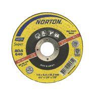 """Disco de desbaste para metal 4.1/2"""" x 1/4"""" x 7/8"""" - BDA640 Norton 66252842857"""