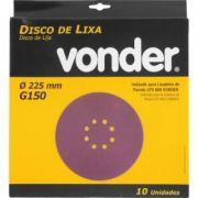 Disco Lixa 225mm Grão 150 P/ LPV600 1258225150 Vonder 1258225150
