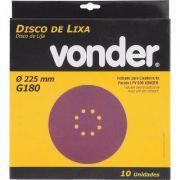 Disco De Lixa 225mm Grão 180 P/ Lpv 600 - 1258225180 vonder