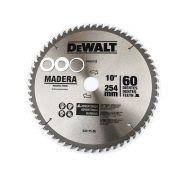 """Disco De Serra10"""" 60 Dentes Dw03120 DeWALT Acompanha três buchas de redução 16mm, 20mm e 25mm"""