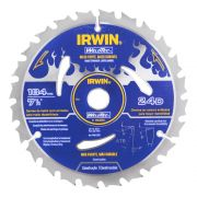 "Disco de Serra Circulare 24 D Weld Tec Irwin 184mm (7.1/4"") 1863659"