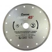 Disco Diamantado 200mm P/ Chanfro 45º Linhza Zapp Cortag 61681