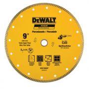 """Disco Diamantado Porcelanato P/ Esmerilhadeiras 9"""" 230mm DeWALT DW57900HP Acompanha 2 Buchas de Redução"""