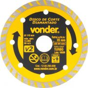 Disco Diamantado V2 110MM Furo 20MM - Vonder 1268200000