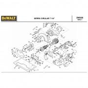 Empunhadura Frontal p/ Serra Circular DW358 / DW389 Dewalt Cod: 144942-02
