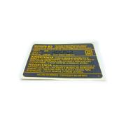 Etiqueta de Especificações p/ Furadeira D21570 Dewalt N065887