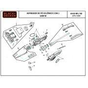 Junta de Vedação P/ Aspirador Vertical AV12/AV700 Black+Decker AV700SP09