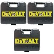 Kit 03 Maletas Dewalt 20V com Fecho De Metal