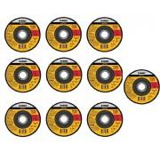 Kit 10 Unidades Disco Desbaste Flexvolt 4.1/2 x 1/4 x 7/8 DeWALT