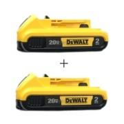 Kit 2 Baterias 20v 2,0ah Dcb203 B3 Dewalt Xr (duas Uni)