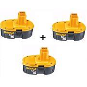 Kit 3 Baterias 18v Xrp 2.4ah Nicd Dc9096 Dewalt  389795-23