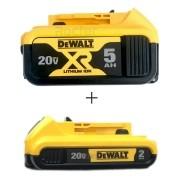 KIT Bateria 20v de 5AH + Bateria 20v de 2AH Dewalt
