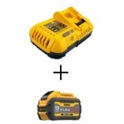 KIT Bateria 9 Amperes DCB609 + DCB118 Carregador 127V 8 Amperes DEWALT Carregador Rápido
