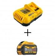 KIT Bateria 9 Amperes DCB609 + DCB118 Carregador 220v 8 Amperes DEWALT