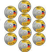 KIT C/ 10 Discos Corte Inox Hp2 9 X 2,0mm X 7/8 Dewalt Dw84902