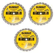 Kit c/ 3 Serras Circular Dw3578b10 Dewalt 7.1/4 X 24 Dentes