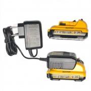 KIT Carregador 12v DCB110 + 2 Baterias DCB127 2 Ah DEWALT Original E Compacto