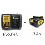 Kit Carregador DCB115 Bivolt 4AH + Bateria 20v de 3 AH DCB200