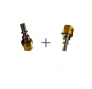 KIT Conector de Segurança de Engate Rápido Corta Chamas p/ Oxigênio e Gás.