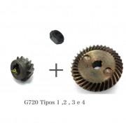 Kit Coroa + Pinhão c/ Porca G720 Tipo 1,2,3 E 4 Black E Decker