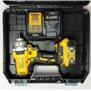 Kit DCF894B Chave de Impacto + Carregador DCB115 Bivolt + Baretia 5Ah DCB205  Dewalt