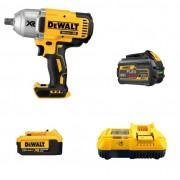 Kit DCF899 Chave de Impacto + Bateira de 6AH + Bateria 4AH + Carregador 8AH Flexvolt Dewalt