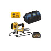 Kit Engraxadeira DCGG571B + Bateria 6ah 20V + Carregador DCB118 127V + Mala de Ferramentas