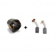 Kit Estator 127v + Par de Escova p/ Esmerilhadeira G720 Tipo1, 2, 3 e 4 Black e Decker