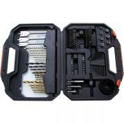 Kit Furadeira 100 Peças Com Brocas, Bits, Soquetes De Titanium Black And Decker A7187-Xj