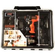Kit Furadeira Multifunção Matrix 6 em 1 20V + Bateria 3Ah LB320BAT Black e Decker