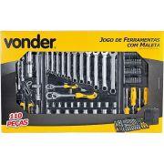 Jogo De Ferramentas 110 PÇS Cromo Vanadium Vonder 3599110104