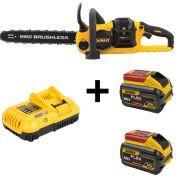 Kit Motosserra + Carregador 110V + 2 Baterias 9Ah