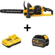 Kit Motosserra + Carregador 220V + 1 Baterias 6Ah