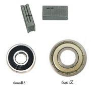 Kit Par de Escovas + Rolamento 6000RS + Rolamento 6201Z p/ STGP612 K