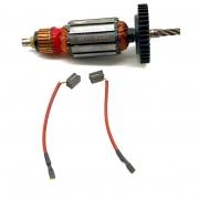 Kit Par Escova De Carvão + Rotor 220V P/ Furadeira De Impacto DW505 Dewalt
