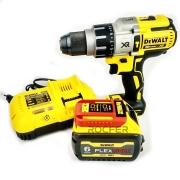 Kit Parafusadeira DCD996B + Bateria 6Ah 20V + Carregador 220V + Maleta Dewalt