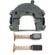 Kit Porta Escova e Interruptor 220V + 2 Escova de Carvão p/ Microretifica RT18 Black e Decker