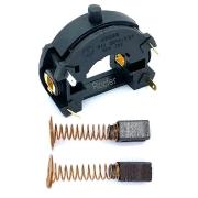 Kit Porta Escova e Interruptor + 2 Escova de Carvão p/ Microretifica RT18 Black e Decker
