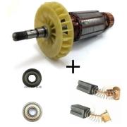 Kit Rotor 220v + Par de Escovas G720 e Rolamentos 607z e 6000zz G720 Tipo 1,2,3 E 4 Black E Decker