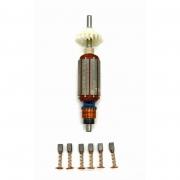 Kit Rotor + Escova De Carvão 220V 127V P/ Microretifica RT18 Black e Decker