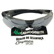 Óculos Segurança Cayman Sport Cinza Espelhado Carbografite 12522212