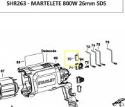 Par de Escova de Carvão 220V P/ Martelete Black e Decker N465518