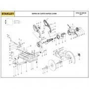 Rotor 220V P/ Serra de Corte Stanley STEL701 5140131-27