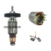 Rotor e Estator + Par Escovas  127V D25013 Dewalt Martelete