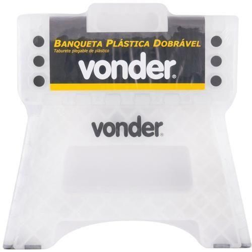 Banqueta Dobrável De Plástico Capacidade 150 Kg Vonder 3540022000