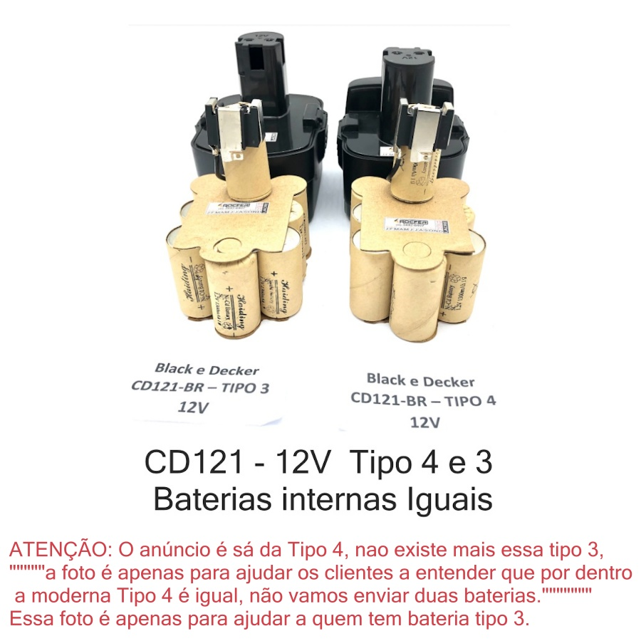 Bateria Original P/ Furadeira Cd121k-br 12v Black+Decker 5140174-60