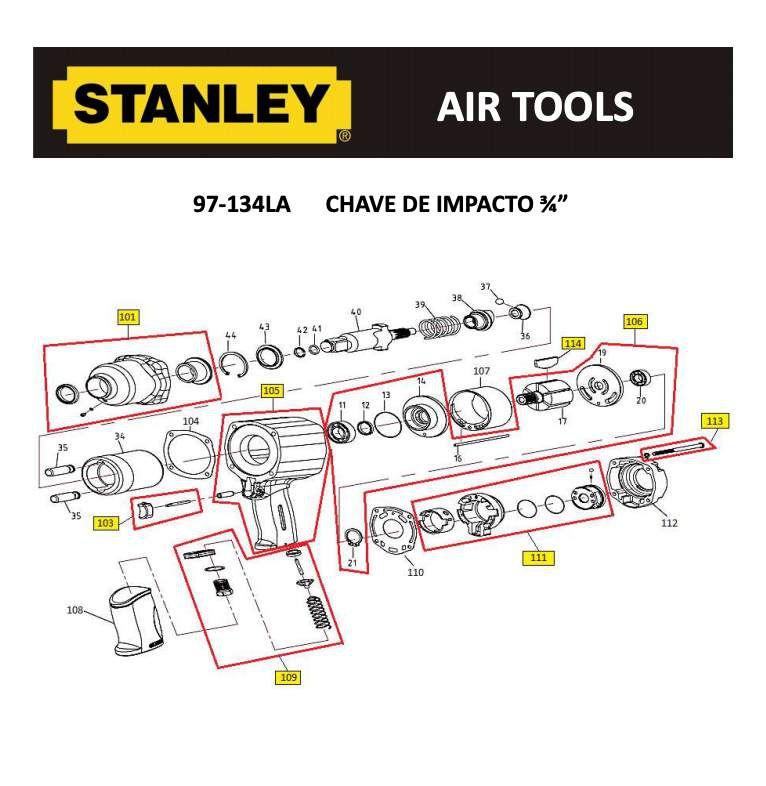 Caixa De Engrenagem ATSVK36144 P/ Chave 97-134 Stanley