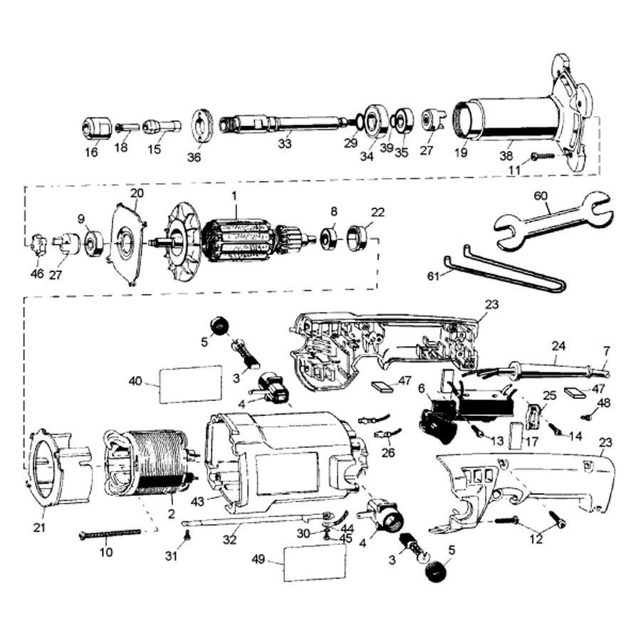 Caixa de Transmissão P/ Retificadeira DW888-B2 DeWALT 450828-00