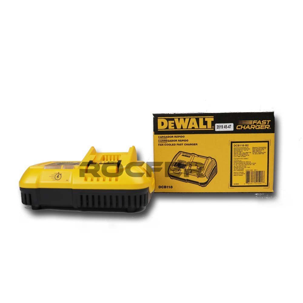 Carregador 127V FlexVolt DCB118 Dewalt 20V/60V Max Li Ion DCB118-BR